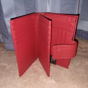 Safe Keeper anti-RFID red leather wallet